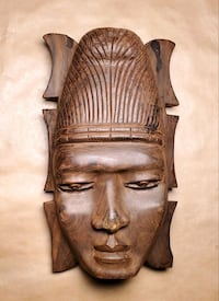 Wooden African Mask Middle River, 21220