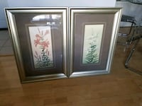 Pair of floral art McLean