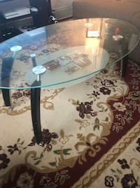 Black and white glass top table New York, 11373