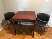 rectangular brown wooden table with four chairs dining set Scarsdale, 10583