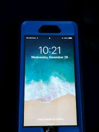 Black iPhone 6 with blue Otter Box case Barrie