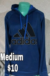 blue and black Adidas pullover hoodie Des Moines, 50315