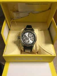 Silver round face Invicta chronograph watch Kelowna, V1Y 7S9