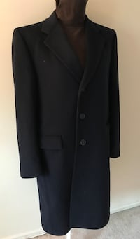 Classic Pierre Cardin Navy Blue 100% Wool Mens Overcoat Long Jacket Size M Alexandria, 22304