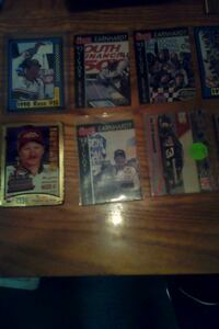 four assorted baseball trading cards null