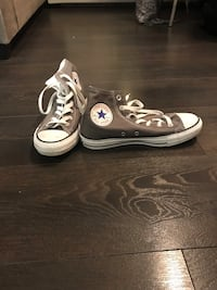 Pair of white converse all star high top sneakers Calgary, T2R 0R8