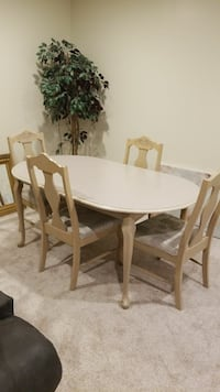 Oval bleach wooden table with 6 chairs dining s Damascus, 20872