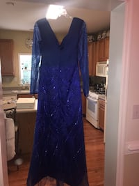 Blue Formal Dress..Never Worn Smoke and pet free home.