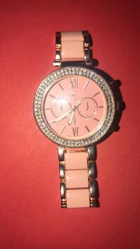 Round silver michael kors chronograph watch with link bracelet Carson, 90746