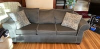 Navy suede 3-seat sofa Washington, 20011