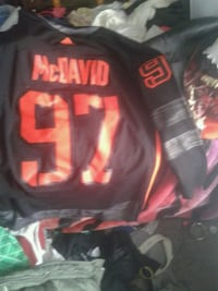 red and black Adidas McDavid 97 jersey Edmonton