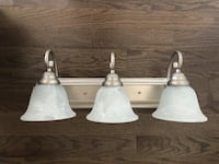3-light bathroom vanity lights with glass shades  Caledon, L7C 4C9