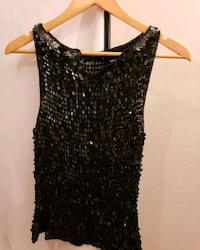 black and gray sequin tank top Union City, 30291