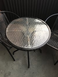 Outdoor patio set two chairs and glass table  Toronto, M9R 2K5