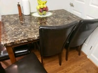 Marble dining table with 4 chairs 38 km