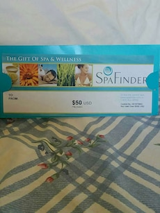 Spa Finders 50.00 gift certificate