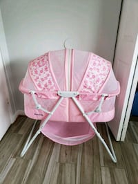 baby's pink and white cradle Beltsville, 20705