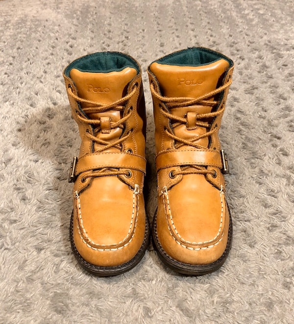 Boys Polo Ranger Hi boots paid $89 size 3 Great condition! Brown  5ee85b28-c923-49d0-8f65-e7e2cff8d6d7