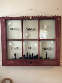 I'm in love with this antique/rustic window decor I just finished! It's also up for sale if interested  pm me for details! I have plenty more windows as well if you'd like to customize with your own wording/ colors/designs! You can also remove the wire an