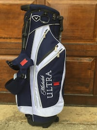 Callaway Chev Michelob Ultra Golf 7-Way Stand Carry Bag Blue White Annandale