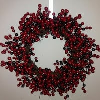 red and black berry wreath
