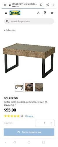 Solleron series Outdoor coffee table from IKEA