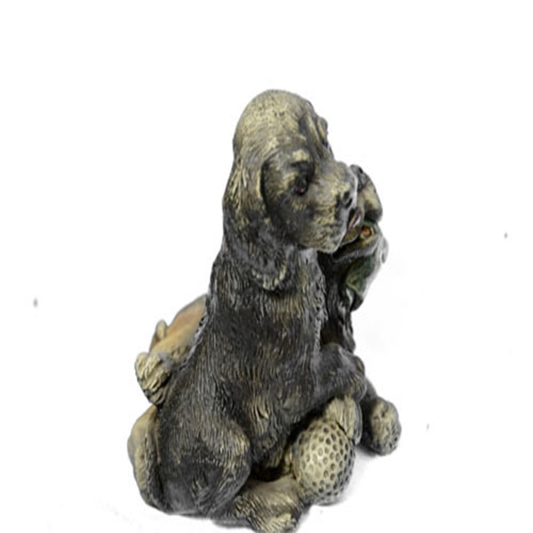 Multi Color Vienna Two Labrador Dogs Bronze Sculpture (4X3 Inches) 72b72153-7ccd-4c23-af72-4ae2ae0775a1