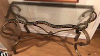 brown wooden frame glass top table Richmond Hill, L4C 9N5