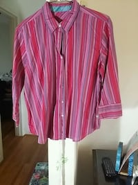 pink and white stripe dress shirt Frederick, 21701