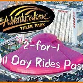 Adventuredome 2-for-1 passes scout cards