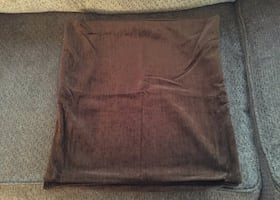 2 Brown Pillow Covers