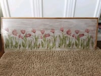 Hand painted  queen size headboard