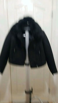 Black leather jacket  Surrey, V3S 2M9