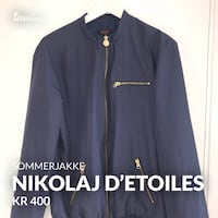 blå zip-up jakke Bønes, 5154