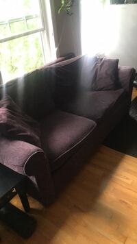 Maroon  2-seat sofa and pull out  bed Toronto, M4L 3B1