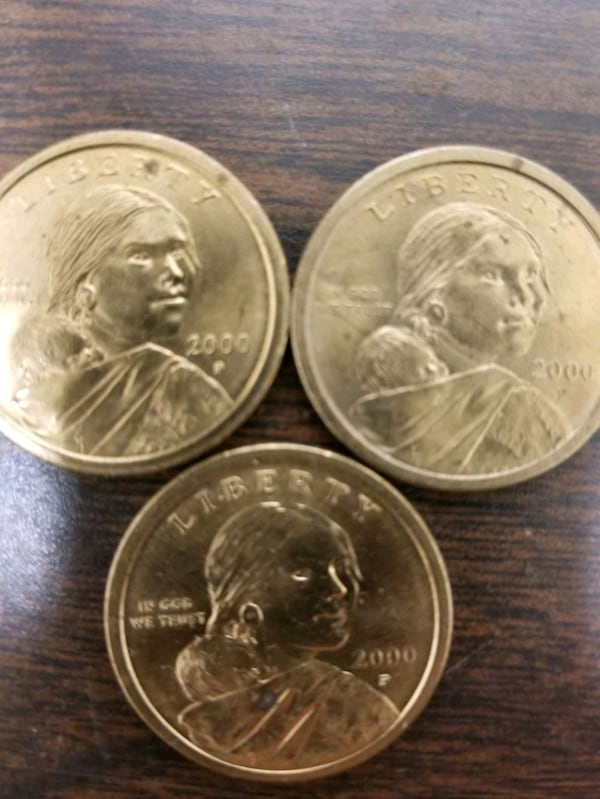 Used 3 2000 P Sacagawea Dollar Coins For Sale In Sparta Township