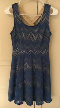 Blue zigzag printed summer dress Westminster, 21157