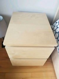 white wooden 2-drawer nightstand Montréal, H4P 2G5