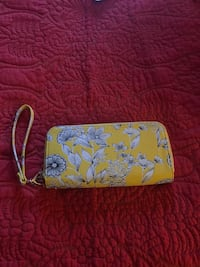 Yellow floral pattern wallet.  Missoula, 59803