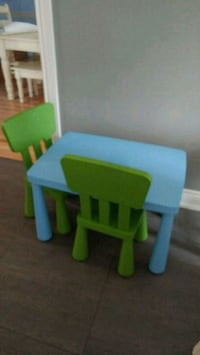 Ikea kids table and 2 chairs  Oakville, L6H 2L5