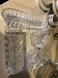 clear cut glass punch bowl set Bakersfield, 93304