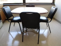 Table with four matching PADDED chair - see description for pricing Columbus
