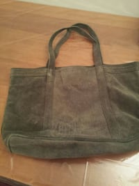 women's gray leather tote bag Montréal, H2P 1Z3