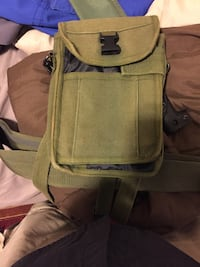 gray and green backpack with bag Middlebury, 06762
