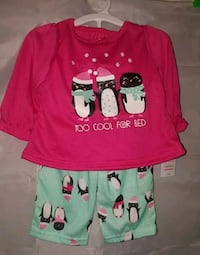 NWT carters baby girl 2 piece outfit size 12 month
