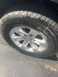 Set of Four 275/6 5/r18 tires with wheels off of a 2019 Ram Leesburg, 20175