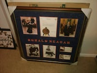 Ronald Reagan Memorbilia Frame Washington