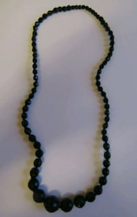 black beaded necklace London