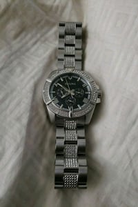 round Bulova Roman numeral analog watch with link  Washington, 20019