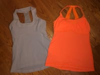 PAIR OF LULULEMON TANK TOPS SIZE 8  North Dumfries, N0B 1E0